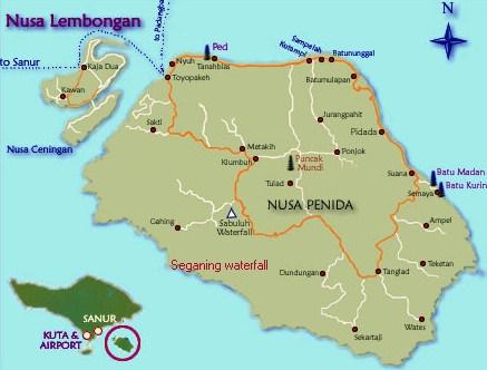 Kintamani tour map