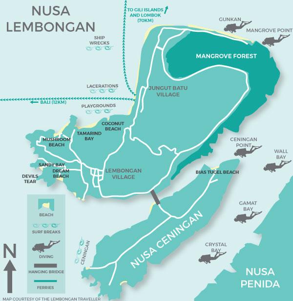 Lembongan tour map
